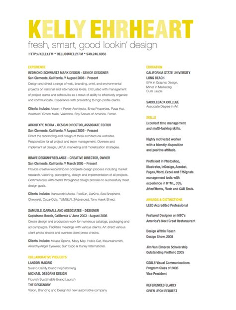 Best Creative Resumes by Best Creative Director Resume Experience Resumes