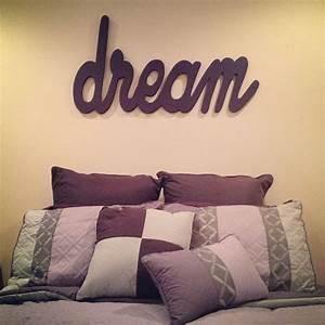 dream wall art wood letters wood words girls room With dream wall letters