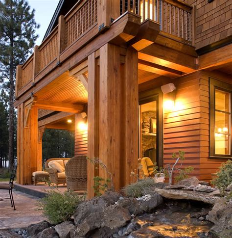 Craftsman Lodge Style Home Plans Mountain Lodge Style