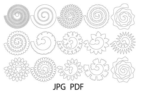 Looking for free shark svg file? 33+ Free Flower Template Svg Pictures Free SVG files ...