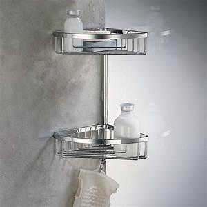 Etagere Dans La Douche : etag re de douche d 39 angle 2 paniers laiton chrom ~ Edinachiropracticcenter.com Idées de Décoration