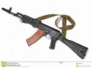 Russian Assault Rifle AK-74 (Kalashnikov) Stock Photo ...