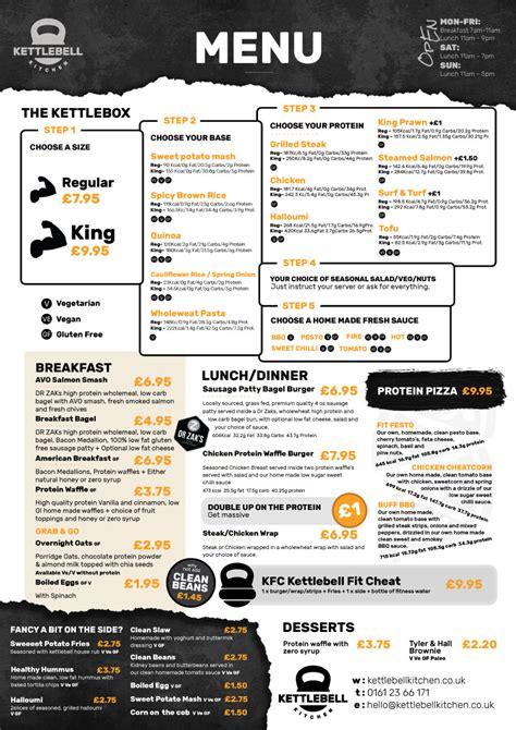 kettlebell kitchen menu