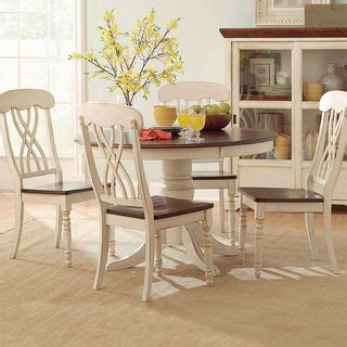 Tribecca Home Mackenzie Dining Set by Tribecca Home Mackenzie Country Antique White Dining