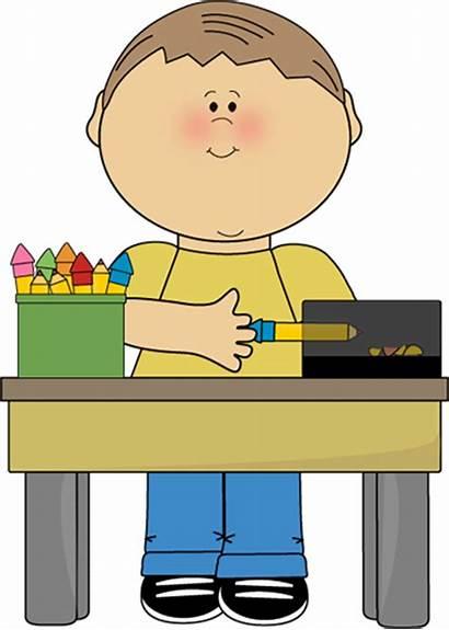 Classroom Clip Pencil Clipart Cleaning Monitor Job