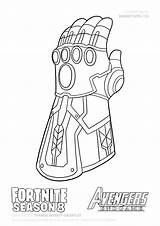 Thanos Gauntlet Infinity Draw Coloring Fortnite Step Cute Endgame Season Guide Avengers Drawing War Dibujos Tutorial Snap Drawitcute sketch template