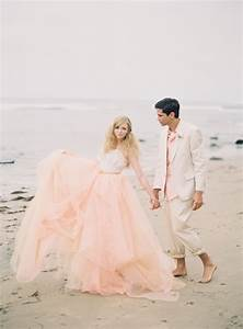 An alternative to ivory 10 inspiring blush wedding for Blush beach wedding dress