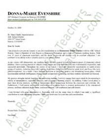 cover letter for teaching resume elementary cover letter sle employment