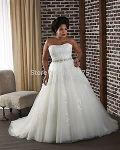 vestido de novia plus size lace appliques lace up black With plus size tulle wedding dress