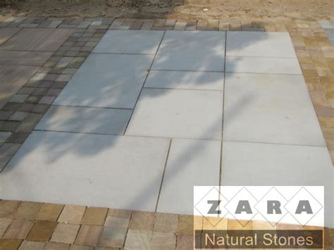 White Paving Stones by Zara Ivory Paver White Paving Stones Outdoor Flooring