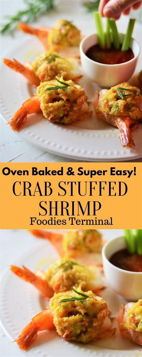 easy baked stuffed shrimp  crabmeat ritz crackers