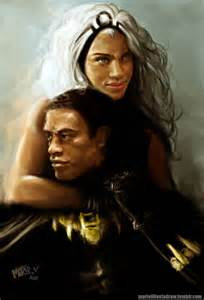 Marvel Black Panther and Storm
