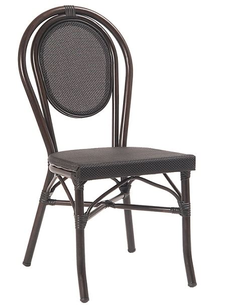 black rattan bistro dining chair performance mesh weave