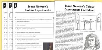 Worksheet  Activity Sheet Isaac Newton Differentiated Reading