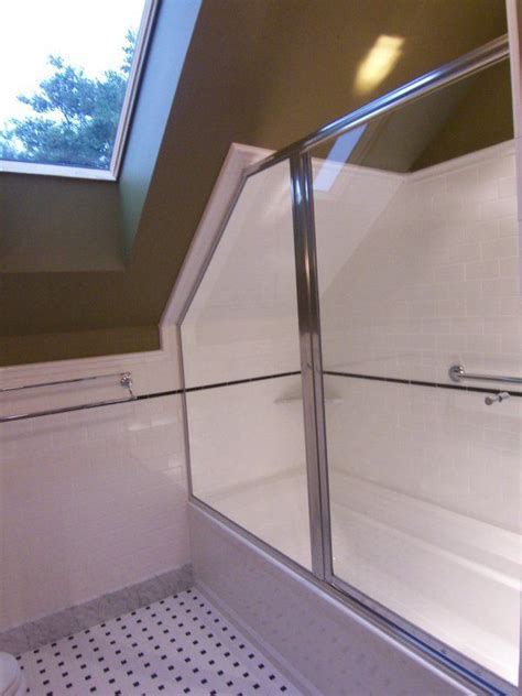 attic bathrooms  sloped ceilings  entry