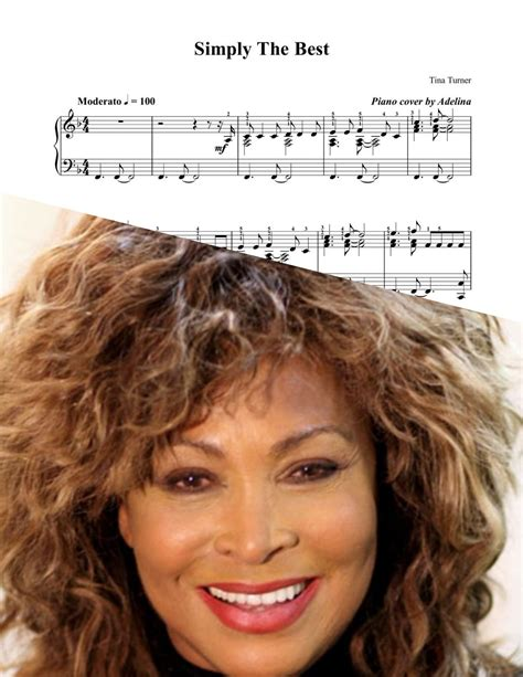 Tina Turner Simply The Best by Quot The Best Quot Tina Turner Piano Sheet