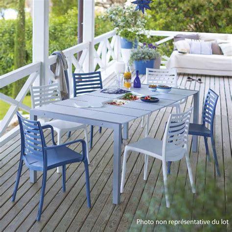 salon de jardin de repas sunday deauville design grosfillex