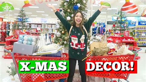 christmas decor shopping  target youtube