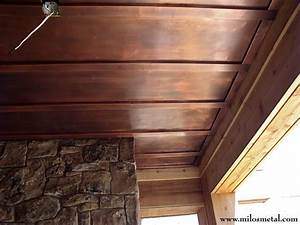 Copper ceiling panels - Traditional - Entry - by Milo's