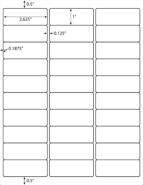 Blank Label Templates 30 Per Sheet blank label template 30 per page templates resume