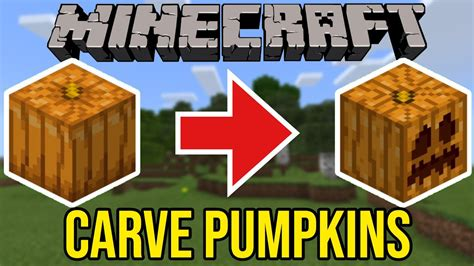 Minecraft How To Carve A Pumpkin - YouTube
