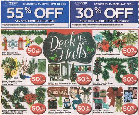 Ac moore coupons for black friday