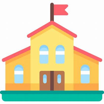 College Kindergarten Education Buildings Icon Data