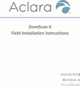 Aclara Technologies 2017017 Zonescan Ii