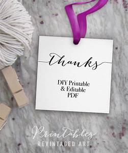 thanks tags printable thank you tags editable favor tags With free diy wedding favor tags template