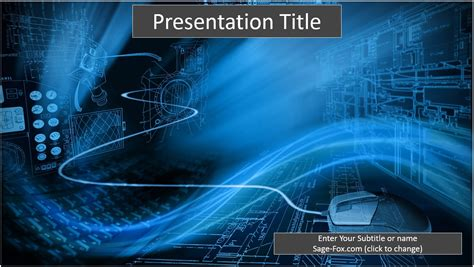 Download Template Powerpoint 2017 Satelit by Free Binary Technology Powerpoint Template 6508 Sagefox