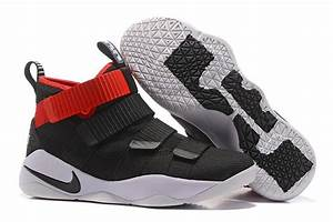 Nike LeBron Soldier 11 Black Red Basketball Shoes 2017 For ...