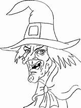 Witch Witches Coloring Pages sketch template