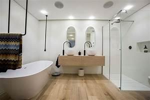 Sol Bois Salle De Bain : parquet flottant conseils et id es pour sol de salle de ~ Premium-room.com Idées de Décoration