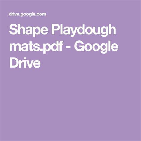 shape playdough matspdf google drive  images