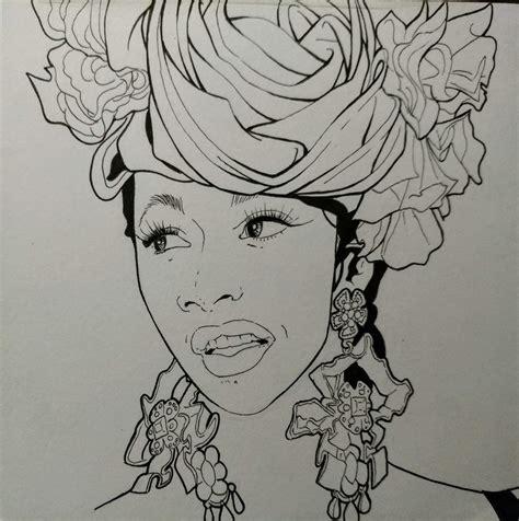 Wallpaper Cardi B Sketch