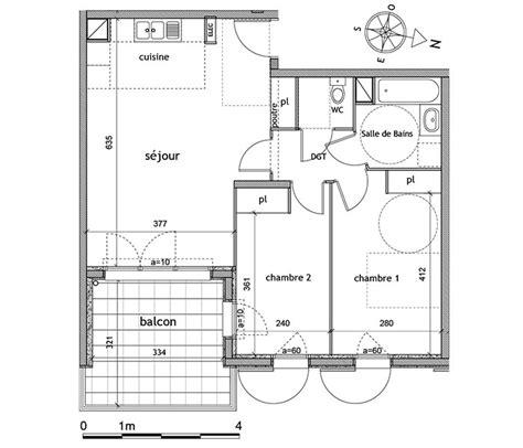 Plan Maison Avec Appartement Plan Appartement 60m2 2 Chambres