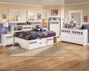 Zayley, White, Full, Bookcase, Bed