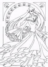 Nouveau Line Coloring Deviantart Drawings Naro Colouring Lineart Adult Fantasy Popular Funny Coloringhome sketch template