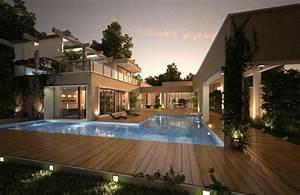 Eclairage Piscine Bois : terrasse bois piscine quelques options pour un look naturel ~ Edinachiropracticcenter.com Idées de Décoration