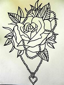 traditional rose tattoo | tattoo flash traditional rose ...