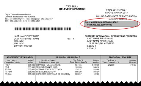 Tax bill and payment options
