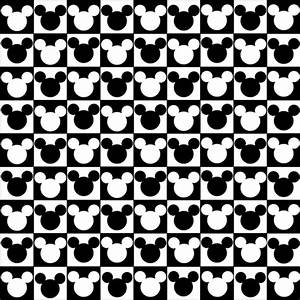Mickey Mouse Head Black And White images