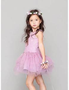 Asymmetrical Lilac Lace Beaded Tutu Tulle Pageant Dress