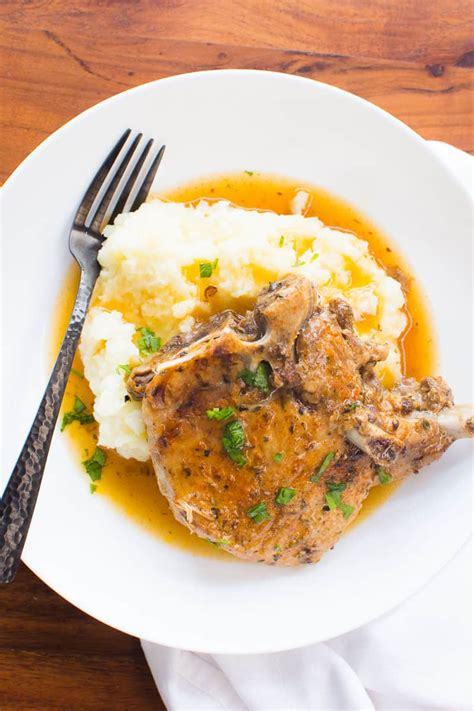 A healthy dinner you can make even if you forgot to we experimented with making frozen pork chops instant pot style until we got it just right! Instant Pot Pork Chops - iFOODreal