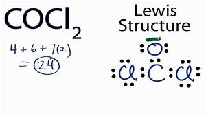 Cocl2 Lewis Structure - How To Draw The Lewis Structure For Cocl2