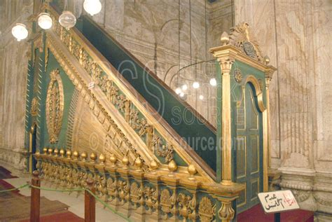 photo  mohammed ali mosque pulpit  photo stock source