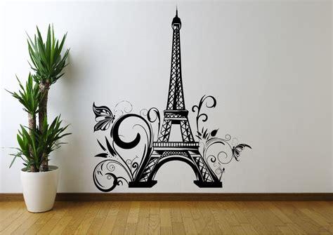 eiffel tower flowers paris wall art sticker decal mural