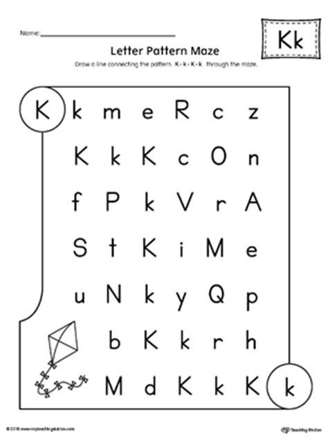 letter  pattern maze worksheet myteachingstationcom