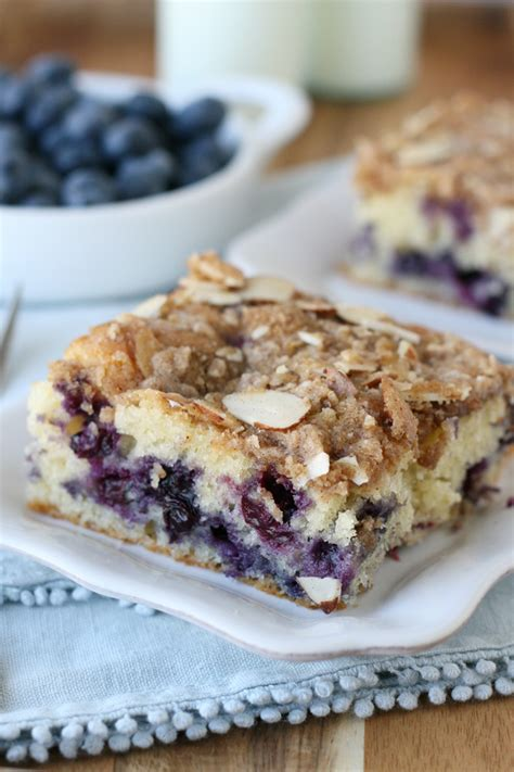 Coffee cake is any cake flavored with or intended to be eaten with coffee. Blueberry Coffee Cake - Glorious Treats