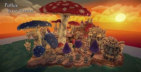 pollux mushroom world build minecraft building